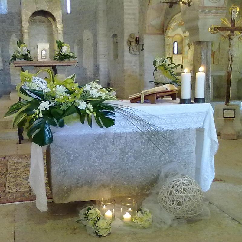 allestimento floreale chiesa valeggio verona