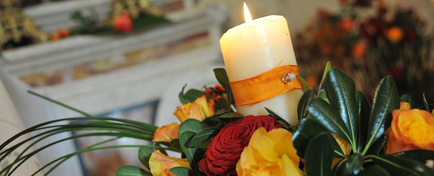 composizione fiori chiesa matrimonio villafranca
