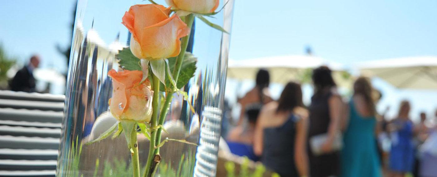 fiori decorazioni location noleggio